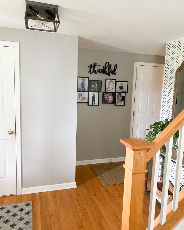 SW mindful gray in the entryway