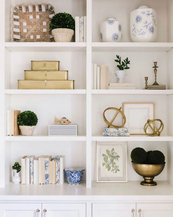 Pops of blue and neutrals is the color scheme here.