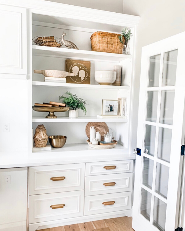 Use items that have special meaning when shelf styling