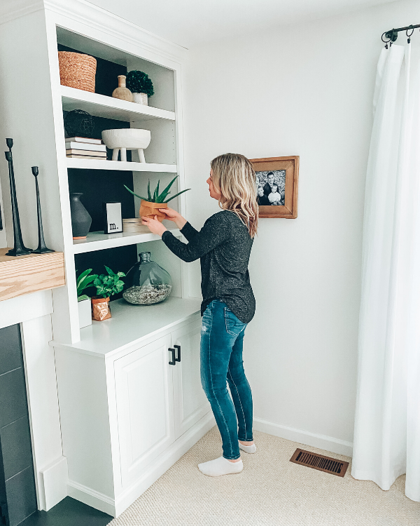 Styling my shelves