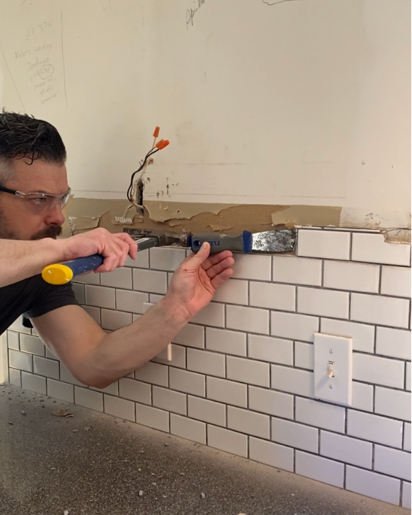 Removing the top row of tiles