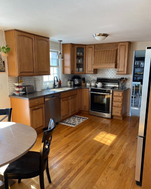 This is the kitchen before the remodel.